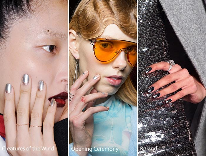 fall_winter_2016_2017_nail_art_polish_trends_metallic_silver_manicure
