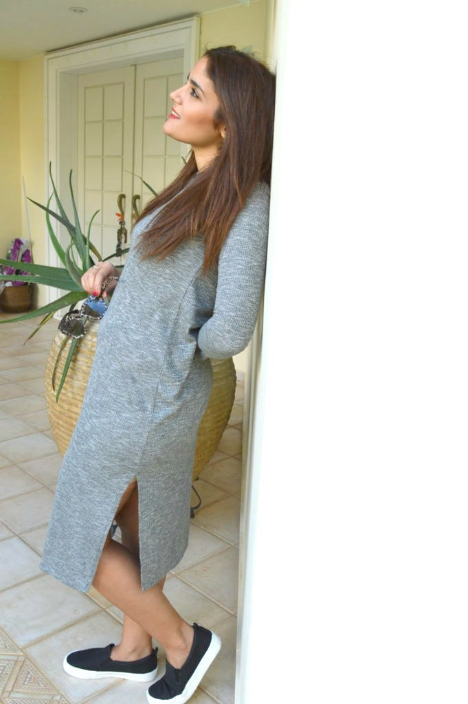 zk style fashion dress grey